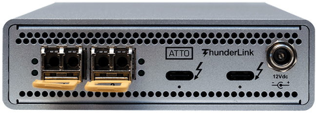 ATTO ThunderLink (TB3) Dual 25 GbE (SFP28)